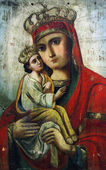 Art icon of Virgin Mary and Jesus Christ (Ukraine) — Stock Photo