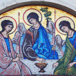 Artistic mosaic icon of three angels (Holy Trinity) — Stock Photo