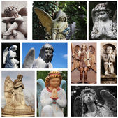 Statues of angels — Stock Photo
