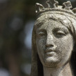 Fragment of statue Virgin Mary — Stock Photo