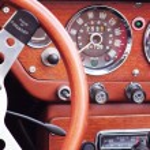 Retro Car fragment — Stock Photo #30348965