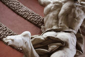 Fragment of statue Achilles Heel — Stock Photo