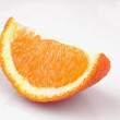 Peeled orange on the white background — Stock Photo