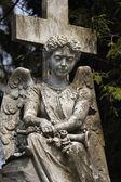 Figure Of Angel on the tomb — Foto de Stock