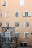 Facade of the medieval building — Stock Photo