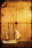 Retro tarzında gemi yelken fotoğraf — Stok fotoğraf