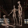 Group alien life forms — Stock Photo