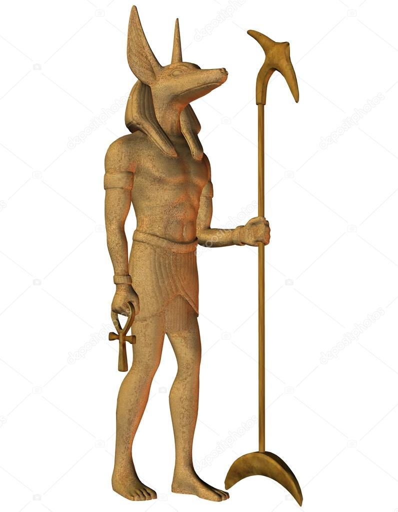 3D Rendering Anubis from Egyptian mythology — Stock Photo #13415423