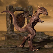 Dragon on Dragon Nest — Stock Photo