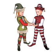 Elfen-kinder — Stockfoto