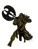 Orc with Axe — Stock Photo