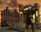 Orc warrior with armor — Stock Photo
