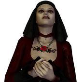Nun praying — Stock Photo