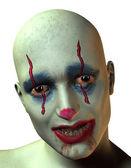 Portrét strašidelný klaun — Stock fotografie
