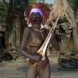 Voodoo priestess with victims sword — Stock Photo #19846165