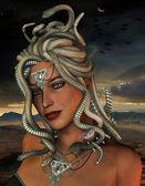 Medusa in the night — Stock Photo