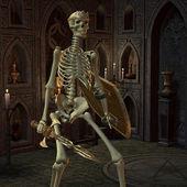 Skeleton Warriors in the altar room — Stock Photo