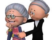 Grandma and grandpa be happy — Stock Photo