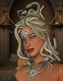 Medusa in the throne room — Fotografia Stock