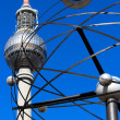 World clock and television tower in Berlin — Stock Photo
