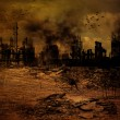 Background - Destroyed City — Stock Photo