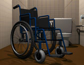 Wheelchair accessible toilet — Stock Photo