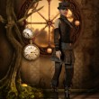 Stock Photo: Steampunk Tree of Time