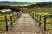 мост на ферму — Стоковое фото