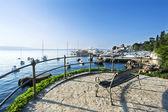 A resting place near the sea, Opatija, Adriatic sea, Croatia — Stock Photo