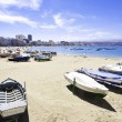 Canteras beach, Las Palmas de Gran Canaria, Spain - Stock Photo