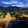 Stock Photo: Night panoramof city of BarcelonSpain