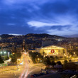 Night panorama of the city of Barcelona Spain — Stock fotografie