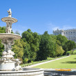 Stock Photo: Garden in Royal Palace Madrid, Spain