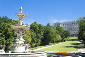 Garden in Royal Palace Madrid, Spain — Stock Photo
