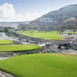 Golf course fairway at tropical resort — Stock Photo