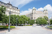 Freedom Square in Budapest — Stock Photo