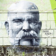 Franz Joseph I. graffiti — Stock Photo
