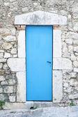 Güzel mavi kapı — Stok fotoğraf