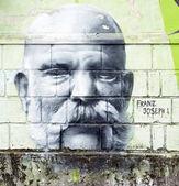 Franz Joseph I. graffiti — Stock Photo