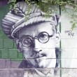 James Joyce graffiti — Stock Photo
