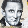 Kirk Douglas graffiti — Stock Photo