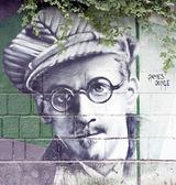 James Joyce graffiti — Stock Photo