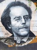 Gustav Mahler graffiti — Stock Photo