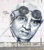 Louis Lumiere graffiti — Stock Photo
