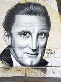 Kirk Douglas graffiti — Stock Photo