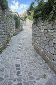 Mediterranean Narrow stone paved street — Stock Photo