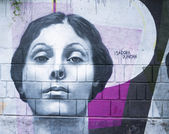 Isadora Duncan Graffiti — Stock Photo