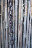 Corroded Metal chain with reed in background. — Stock Photo