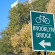 Bike sign New York City — Stock Photo