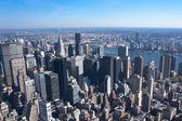 Aerial view of Manhattan New York City — Stock Photo